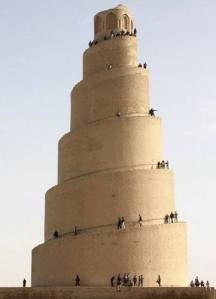 Samarra, Iraq- the Spiral Minaret : ziggurat of the Great Mosque